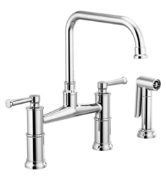 "Brizo 62525LF Artesso 13 3/8"" Two Handle Bridge Kitchen Faucet with Side Spray"
