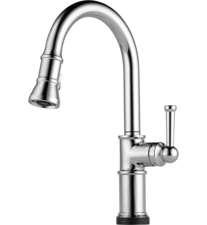 Brizo 64025LF-PN Artesso Single Handle Pull-Down Kitchen Faucet With Smarttouch(R) Technology With Finish: Polished Nickel