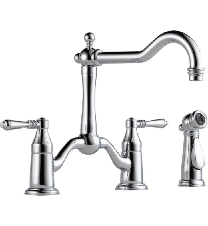 Brizo 62536LF-PN Tresa Two Handle Bridge Kitchen Faucet With Spray With Finish: Polished Nickel