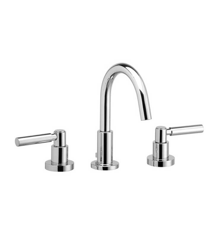 "Phylrich D131-024 Basic 7 1/4"" Double Lever Handle Widespread Bathroom Sink Faucet with Medium Spout With Finish: Satin Gold"