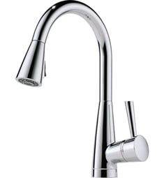 "Brizo 63070LF Venuto 15 1/2"" Single Handle Deck Mounted Pull-Down Kitchen Faucet"