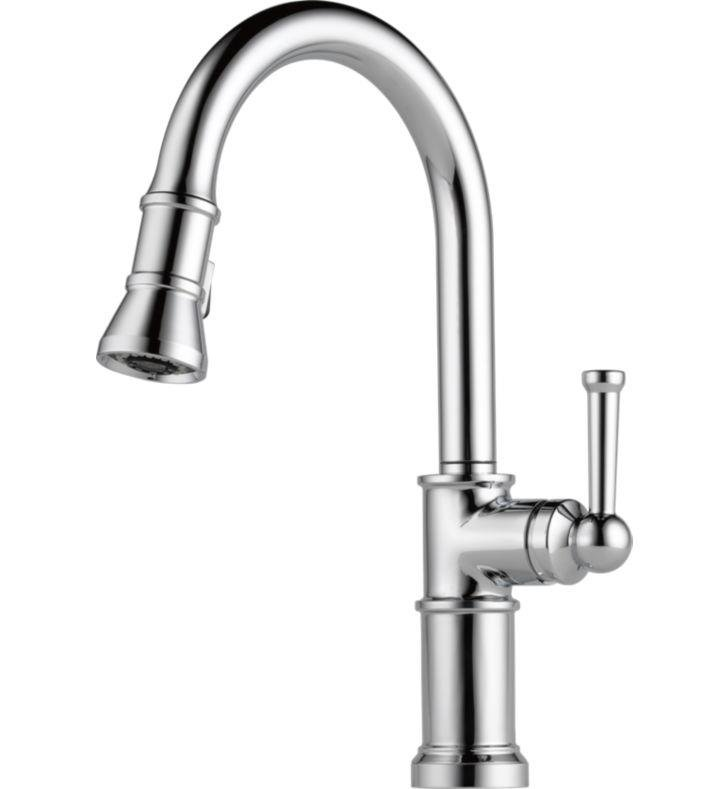 Brizo 63025LF-SS Artesso Single Handle Pull-Down Kitchen Faucet With Finish: Stainless Steel