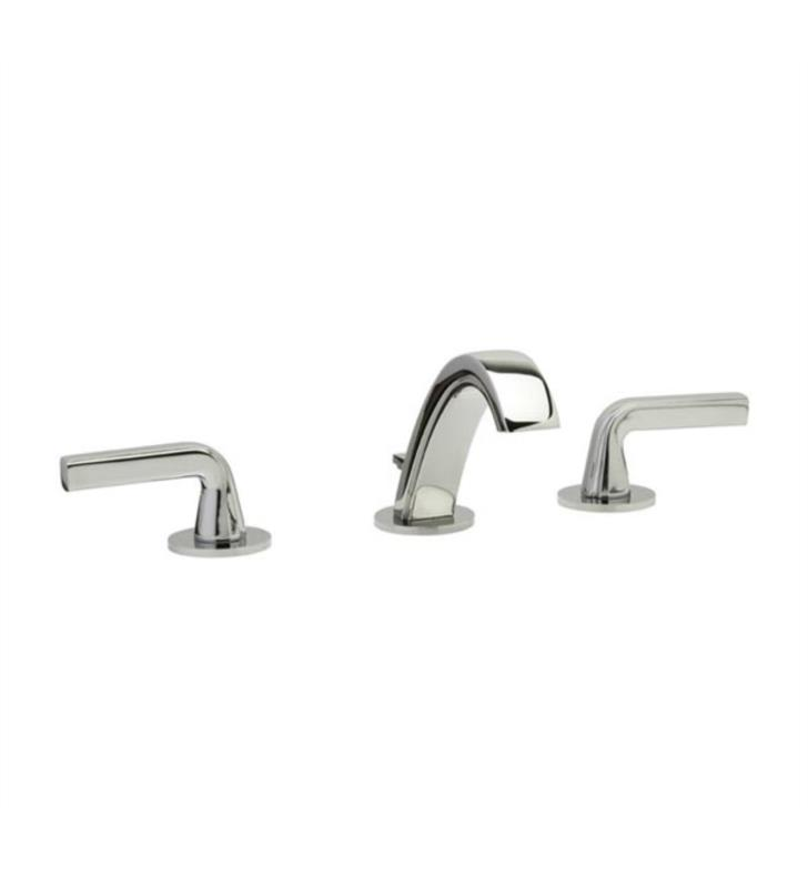 "Phylrich K112-015 Harper 7 1/2"" Double Lever Handle Widespread Bathroom Sink Faucet With Finish: Satin Nickel"