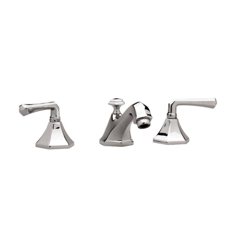 "Phylrich K170-007 Le Verre & La Crosse 7 1/8"" Double Lever Handle Widespread Bathroom Sink Faucet With Finish: Polished Brass Antiqued"
