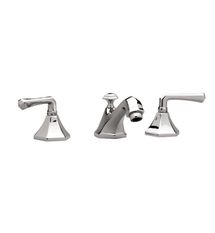 "Phylrich K170 Le Verre & La Crosse 7 1/8"" Double Lever Handle Widespread Bathroom Sink Faucet"