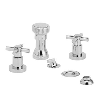 Phylrich D4134-014 Basic Four Hole Bidet Set With Finish: Polished Nickel
