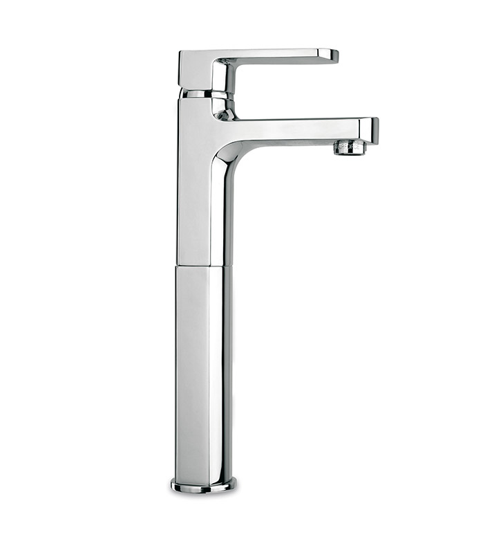 LaToscana 86CR205LL Novello Tall Single Lever Handle Lavatory Vessel in Chrome