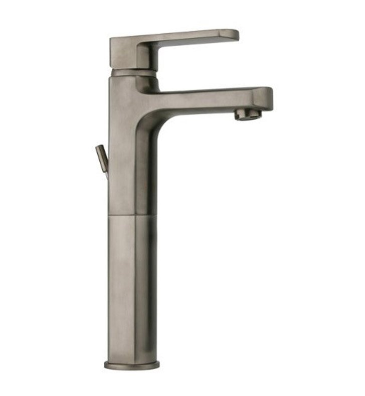 LaToscana 86PW205LL Novello Tall Single Lever Handle Lavatory Vessel in Brushed Nickel