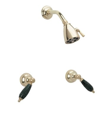 Phylrich K3158F-093 Carrara Shower Set With Finish: Polished Gold with Polished Nickel