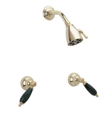 Phylrich K3158F-003 Carrara Shower Set With Finish: Polished Brass