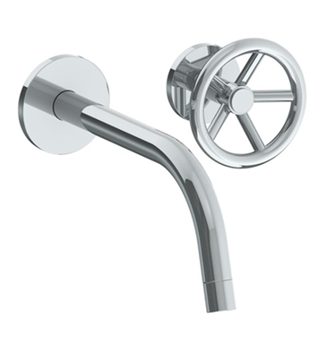 Watermark 31-1.2TO-BK-SC Brooklyn Single Handle Wall Mounted Bathroom Faucet With Finish: Satin Chrome <strong>(USUALLY SHIPS IN 8-9 WEEKS)</strong>