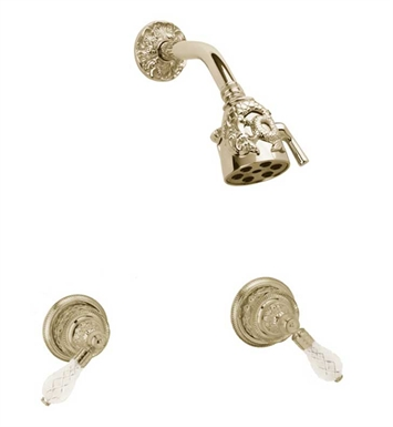 Phylrich K3184-004 Dolphin Shower Set With Finish: Satin Brass