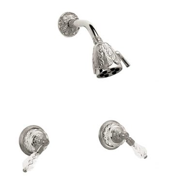 Phylrich K3180-071 Louis XIV Cut Crystal Shower Set With Finish: Polished Nickel with Polished Brass
