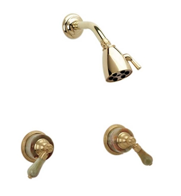 Phylrich K3270-25D Regent Shower Set With Finish: Polished Gold Antiqued