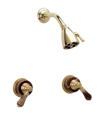 Phylrich K3271-062 Regent Shower Set With Finish: Polished Brass with Polished Chrome