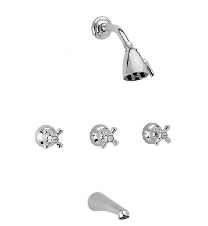 Phylrich K2190A Marquis and Jamestown Cross Handle Thermostatic Tub and Shower Set