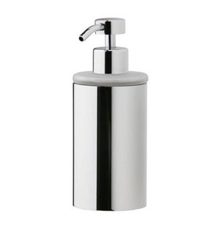 "Phylrich DB20D-040 Basic 2 5/8"" Deck Mounted Frosted Glass Soap Dispenser With Finish: Satin Black"