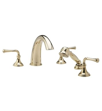 Phylrich D2205E1-004 3Ring Kitchen Deck Set with Hand Shower With Finish: Satin Brass