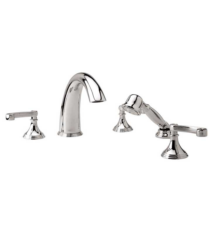 Phylrich D2206E1-024 3Ring Kitchen Deck Set with Hand Shower With Finish: Satin Gold