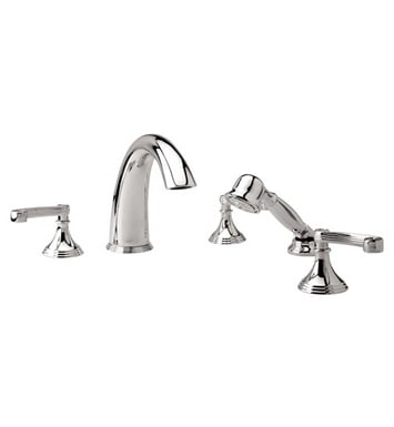 Phylrich D2206E1-004 3Ring Kitchen Deck Set with Hand Shower With Finish: Satin Brass
