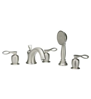 Phylrich K2104L1-062 Amphora Kitchen Deck Set with Hand Shower With Finish: Polished Brass with Polished Chrome
