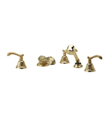 Phylrich K2144H1-073 Baroque Kitchen Deck Set with Hand Shower With Finish: Polished Nickel with Polished Gold