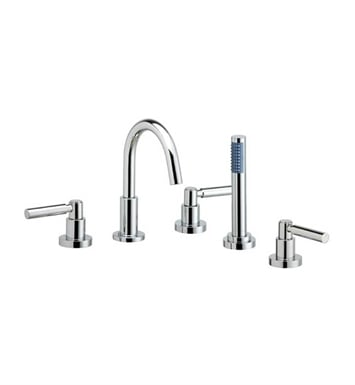 Phylrich D2130C1-079 Basic Kitchen Deck Set with Hand Shower With Finish: Satin Nickel with Satin Gold