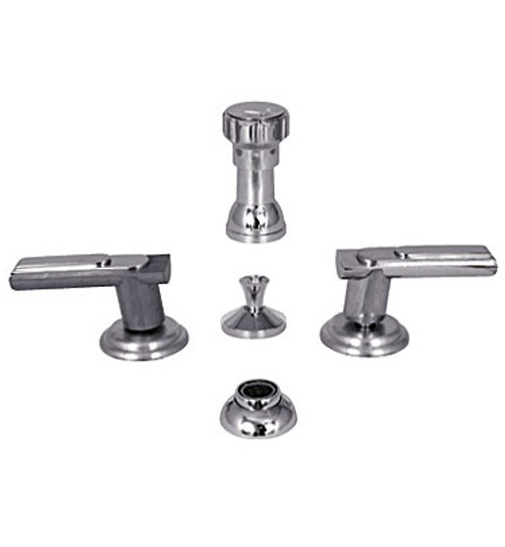 Watermark 160-4-AQ-CL Aqueduct Four Hole Bidet Faucet With Finish: Charcoal <strong>(USUALLY SHIPS IN 8-9 WEEKS)</strong>