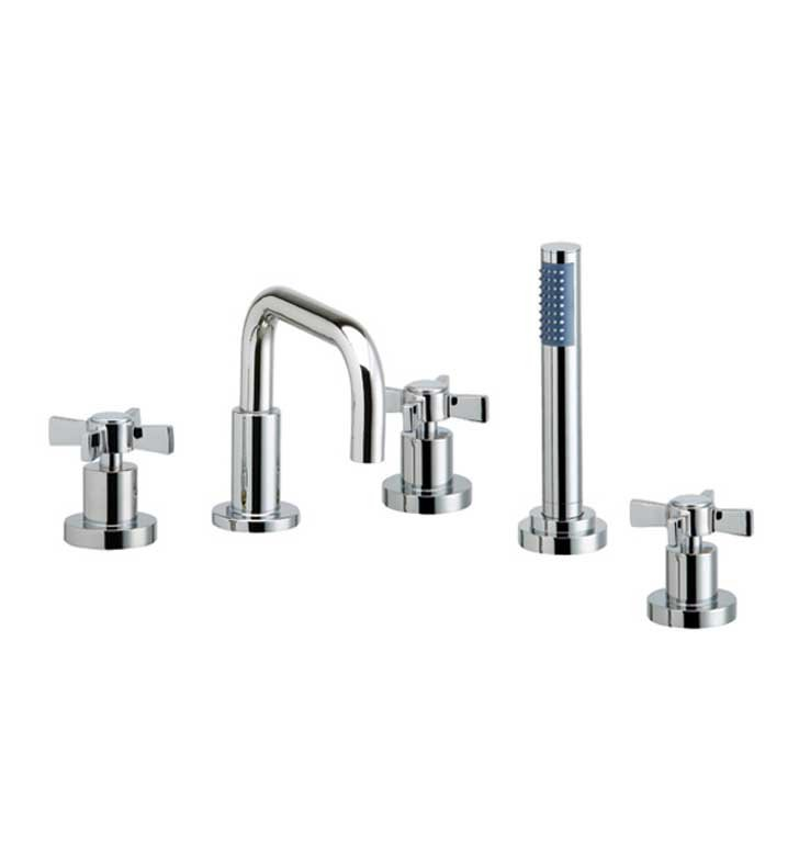 Phylrich D2139D1-089 Basic Kitchen Deck Set with Hand Shower With Finish: Polished Chrome with Polished Gold