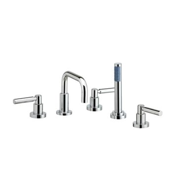 Phylrich D2132D1-089 Basic Kitchen Deck Set with Hand Shower With Finish: Polished Chrome with Polished Gold