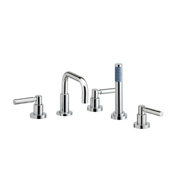 Phylrich D2132D1-086 Basic Kitchen Deck Set with Hand Shower With Finish: Polished Chrome with Satin Nickel