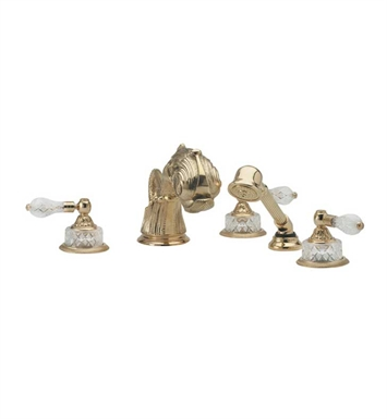 Phylrich K2184M1-093 Dolphin Kitchen Deck Set with Hand Shower With Finish: Polished Gold with Polished Nickel