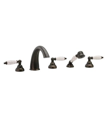 Phylrich K2158BT1-040 Carrara Kitchen Deck Set with Hand Shower With Finish: Satin Black