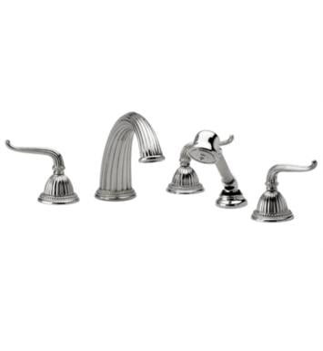 Phylrich K2141P1-007 Georgian & Barcelona Kitchen Deck Set with Hand Shower With Finish: Polished Brass Antiqued