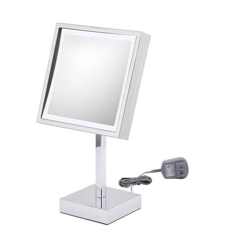 Aptations 712 Single-Sided LED Lighted Free-Standing Square Mirror from the Kimball & Young Collection