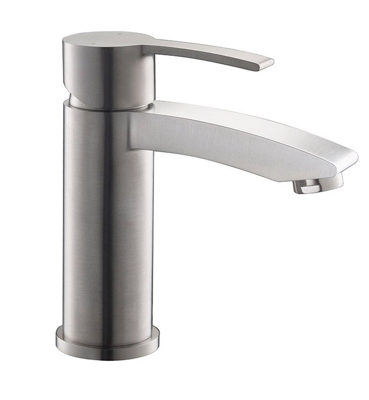 Fresca FFT3111BN Livenza Single Hole Mount Bathroom Faucet in Brushed Nickel