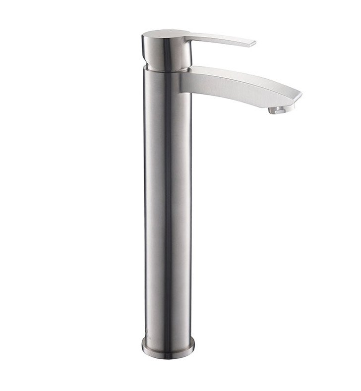 Fresca FFT3112BN Livenza Single Hole Vessel Mount Bathroom Faucet in Brushed Nickel