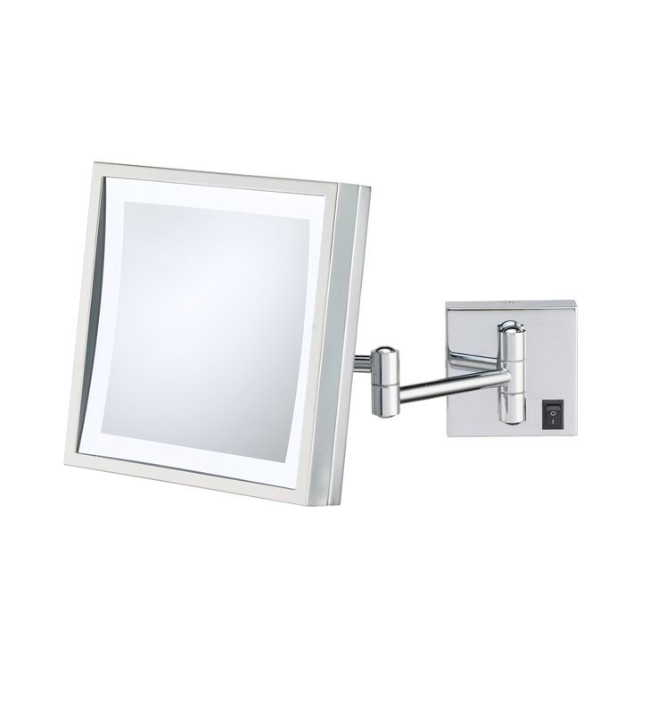 Aptations 912 Single-Sided LED Lighted Square Wall Mirror from the Kimball & Young Collection