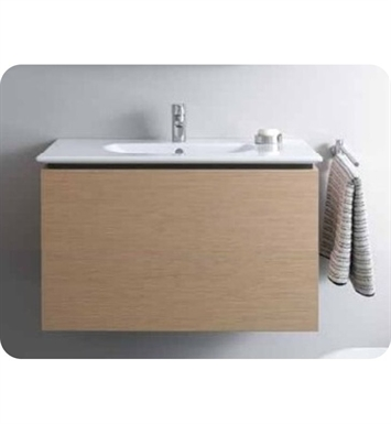 Duravit DL6231 Delos Wall-Mounted Modern Bathroom Vanity Unit - Pull-out Compartment Model