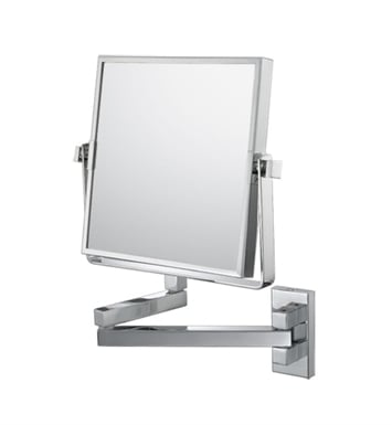 Aptations 24073 Double Arm Square Wall Mirror from the Mirror Image Collection With Finish: Brushed Nickel