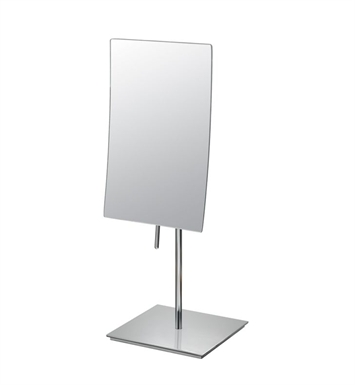 Aptations 82273 Single-Sided Minimalist Free-Standing Rectangular Mirror from the Mirror Image Collection With Finish: Brushed Nickel