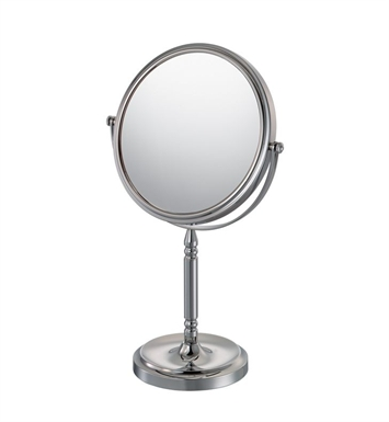 Aptations 86675 Recessed Base Free-Standing Round Mirror from the Mirror Image Collection With Finish: Brushed Nickel