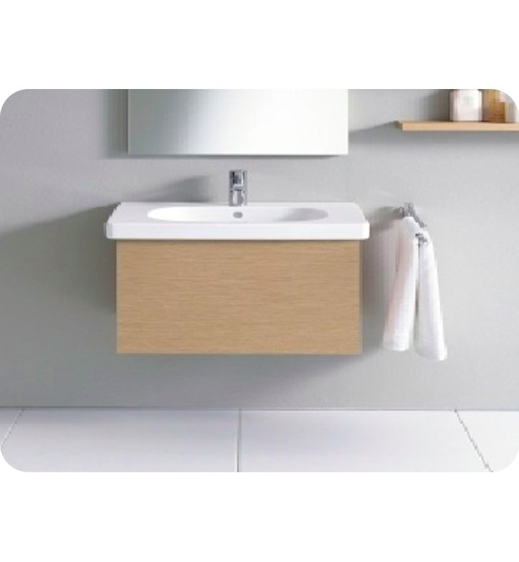 Duravit DL6235 Delos Wall-Mounted Modern Bathroom Vanity Unit - Pull-out Compartment Model