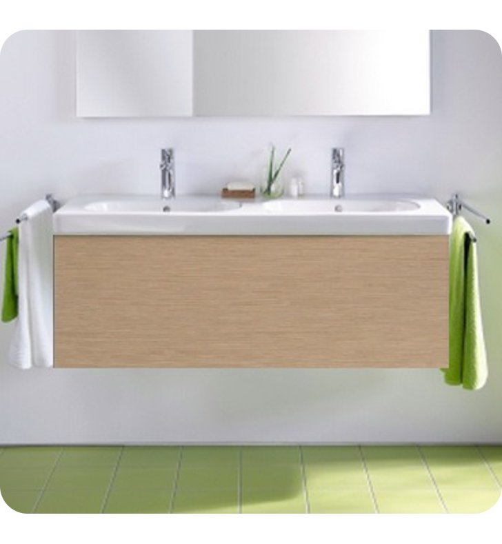 Duravit DL6237 Delos Wall-Mounted Modern Bathroom Vanity Unit - Pull-out Compartment Model