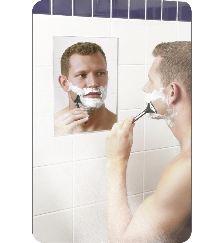 "Aptations 60016 16"" Heated Fog-Free Shower Wall Mirror from the ClearMirror Collection"
