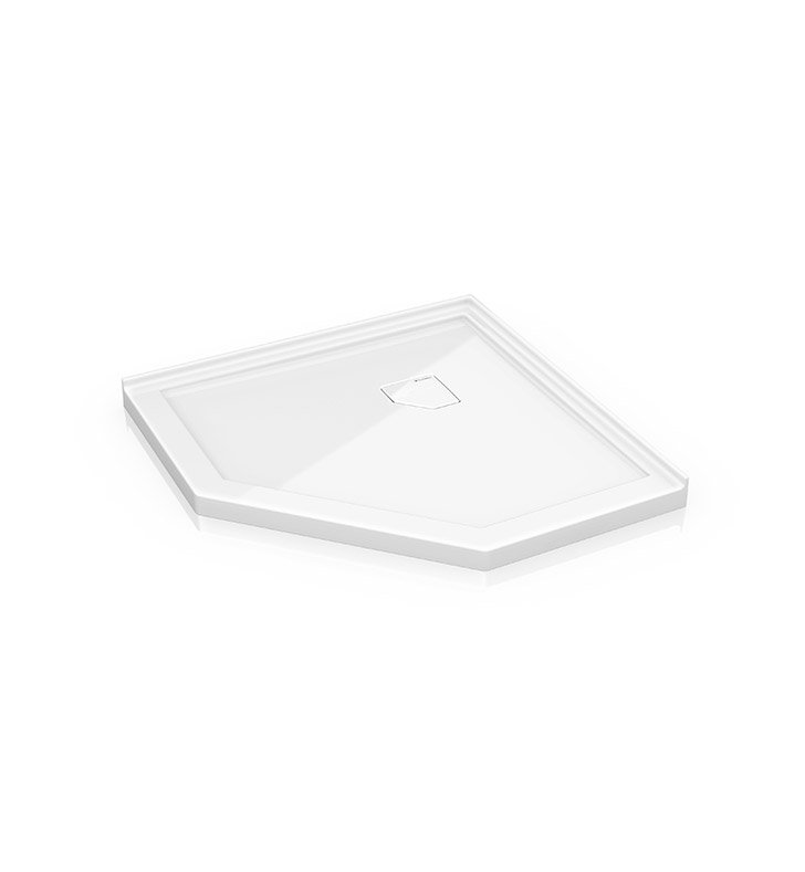 "Fleurco ALN38-18 Neo Low Profile Acrylic Shower Base with Concealed Corner Drain With Base Size: 38"" x 38"" x 2"" And Finish: White"