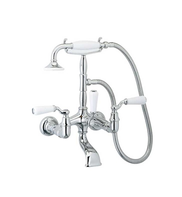 Phylrich K2393-073 Old Tyme Wall Mounted Tub & Shower Set With Finish: Polished Nickel with Polished Gold