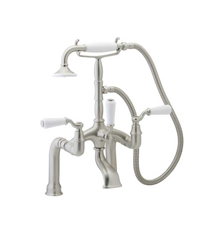 Phylrich K2393D-073 Old Tyme Deck Mounted Tub & Shower Set With Finish: Polished Nickel with Polished Gold