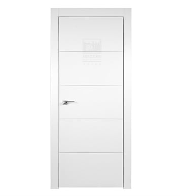Arazzinni AZ-4H-9010-3280-PBH SmartPro 4H Polar White Modern Interior Door With Door Width: 31 13/16 inches And Hanging Options: Complete with Door Jambs, Casing, Door Handle Pre-drilling, and Chrome Plain Bearing Hinges