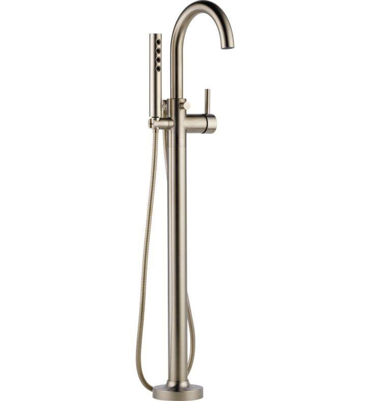 Brizo T70175-BN Odin Single-Handle Freestanding Tub Filler With ...